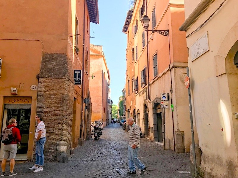 Street in Trastevere Rome