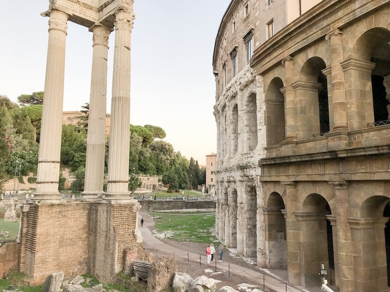 Theatre of Marcellus in the Jewish Quarter of Rome