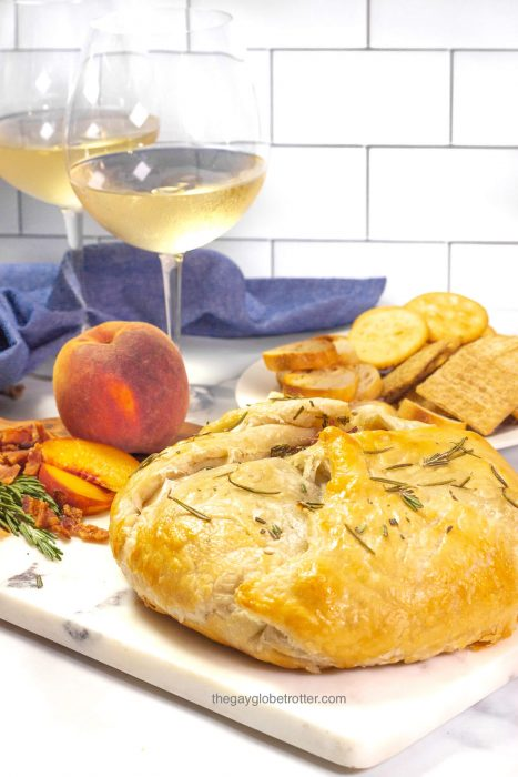 Rosemary Bacon Peach Brie en Croute Credit The Gay Globetrotter