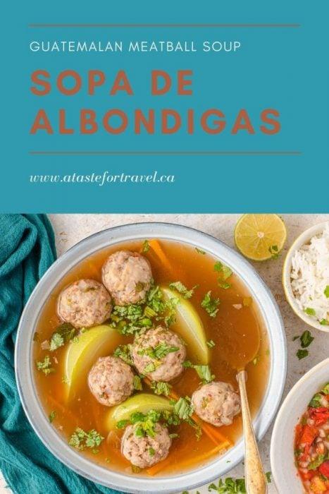 Caldo de Albondigas - Meatball Soup