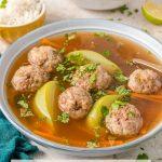sopa de albonigas Guatemalteco