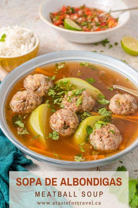 Sopa de Albondigas Guatemalteco - Low Carb Meatball Soup