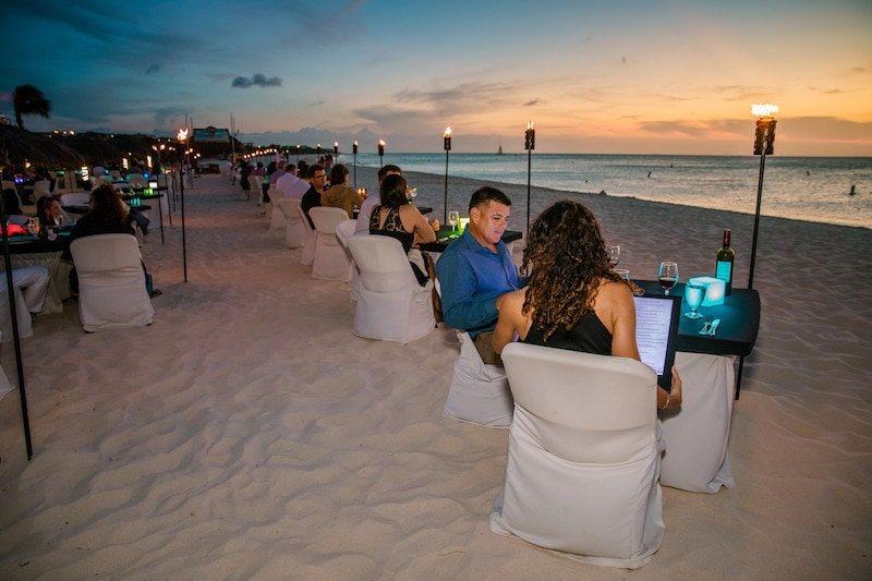Passions on the Beach Romantic Dinner Eagle Beach Aruba