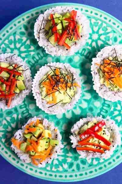 Vegan Sushi Cups Credit rhians recipes