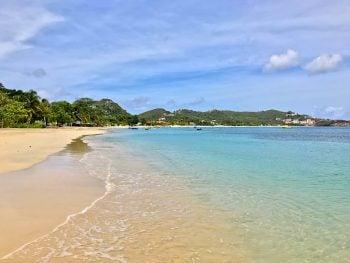 No Sargassum seaweed on Grand Anse Beach Grenada