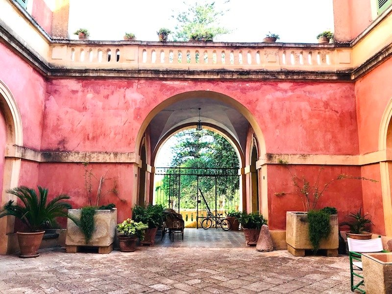 Courtyard of Palazzo Laura in Morciano di Leuca