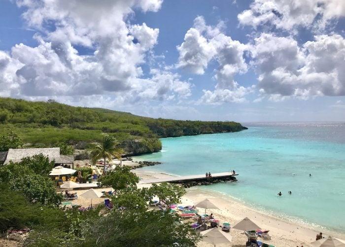 Seaweed-free Porto Mari Beach Curacao