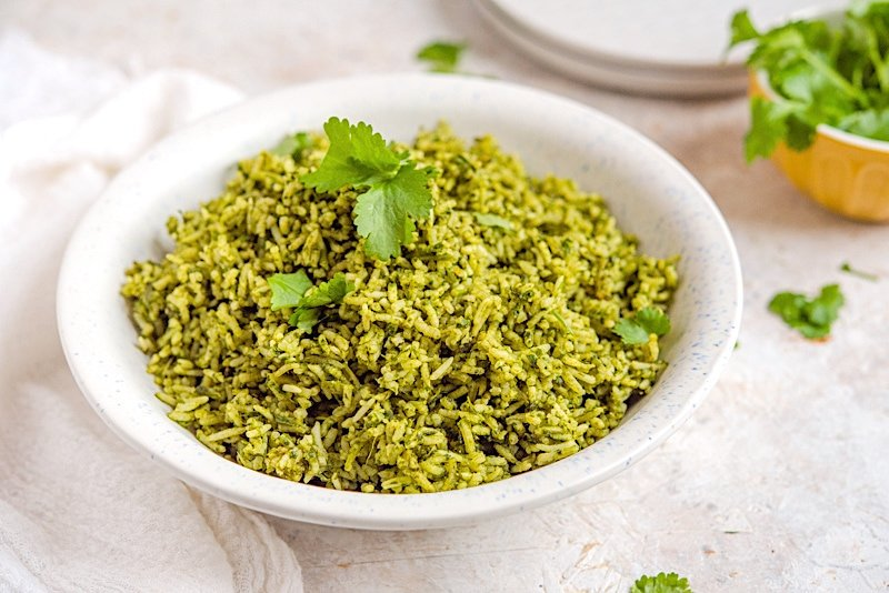 Arroz Verde - Mexican Green Rice Side View