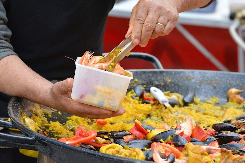 Authentic paella for a crowd