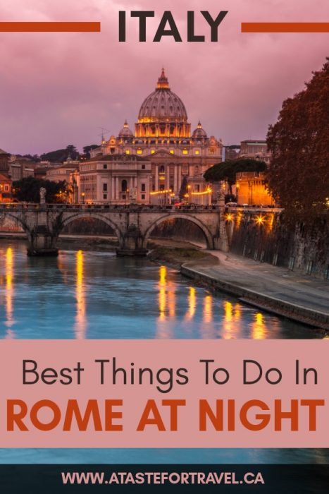 fun things to do in Rome at night