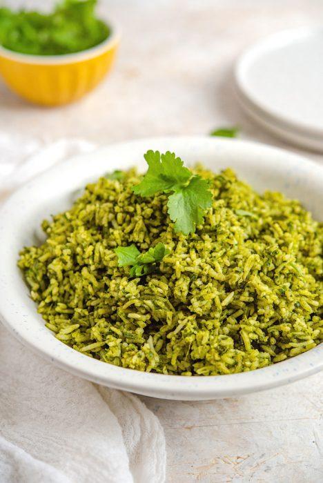 Spinach and Cilantro Rice Recipe