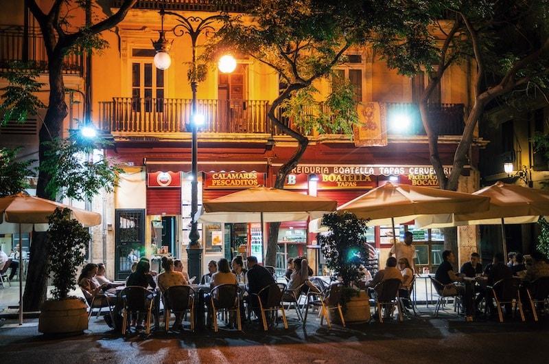 Nightlife in Valencia, Spain Deposit Photos