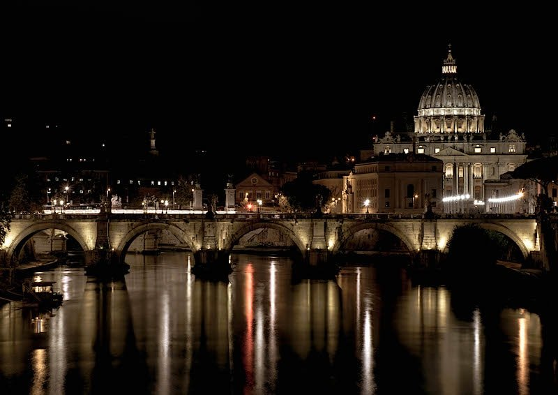 St. Peters Vatican at Night