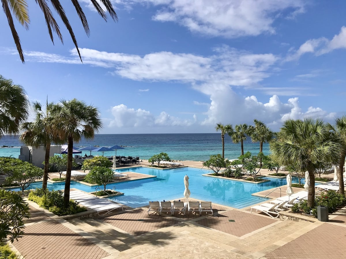 Swimming pool at the Curacao Marriott Beach Resort