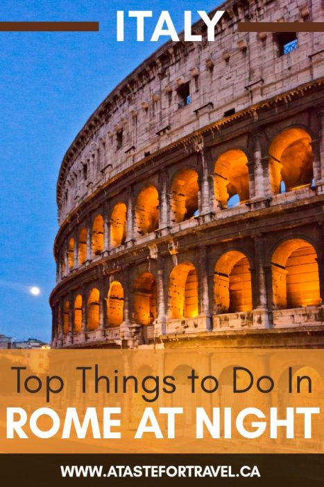 Things to do in Rome at Night