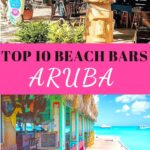 Two beach bars on the island of Aruba.