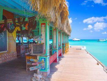 Bugaloe Bar on a Pier in Aruba