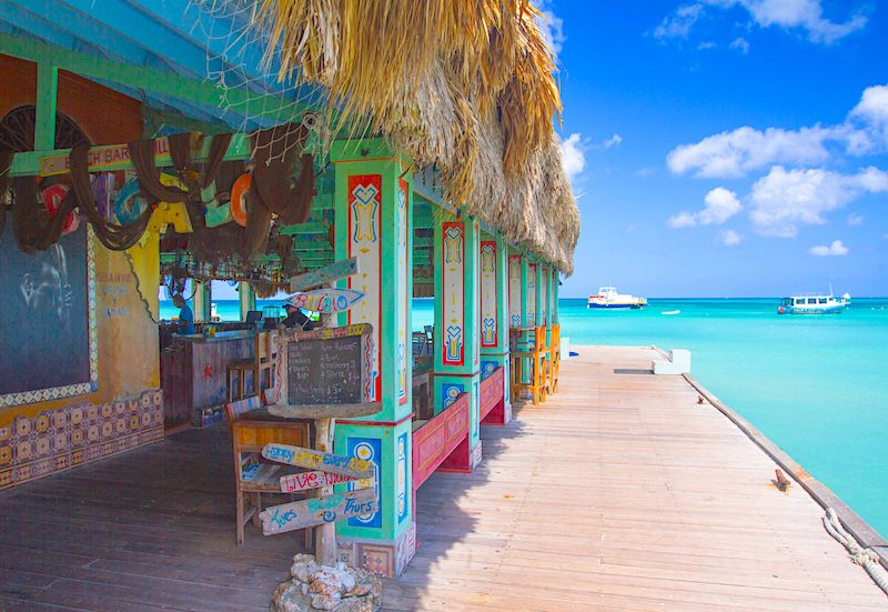 Bugaloe Bar on a Pier in Aruba