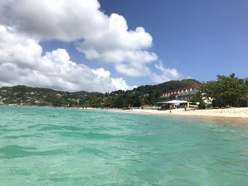 Radisson Hotel on the beach in Grenada
