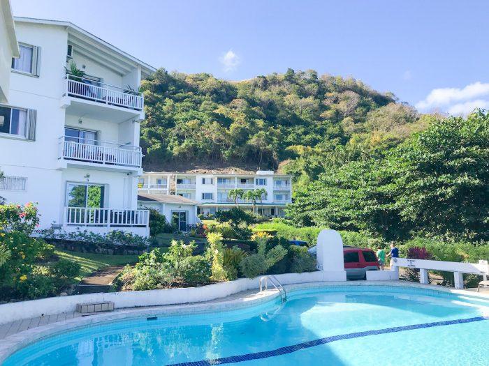Swimming pool at Siesta Hotel in Grenada