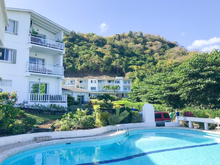 Swimming pool at Siesta Hotel in Grenada