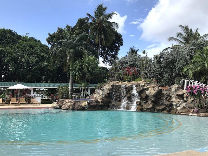 Waterfall swimming pool at Radisson Grenada