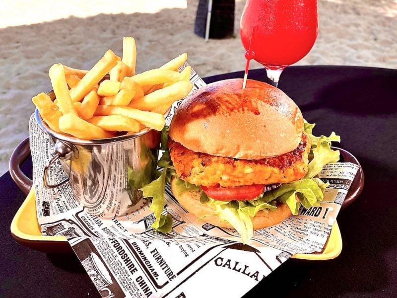 pure beach veggie burger photo cred divi resorts