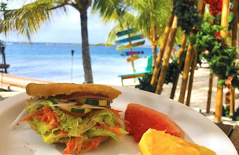 Enjoy arepas and more at Aruba Ocean Villas