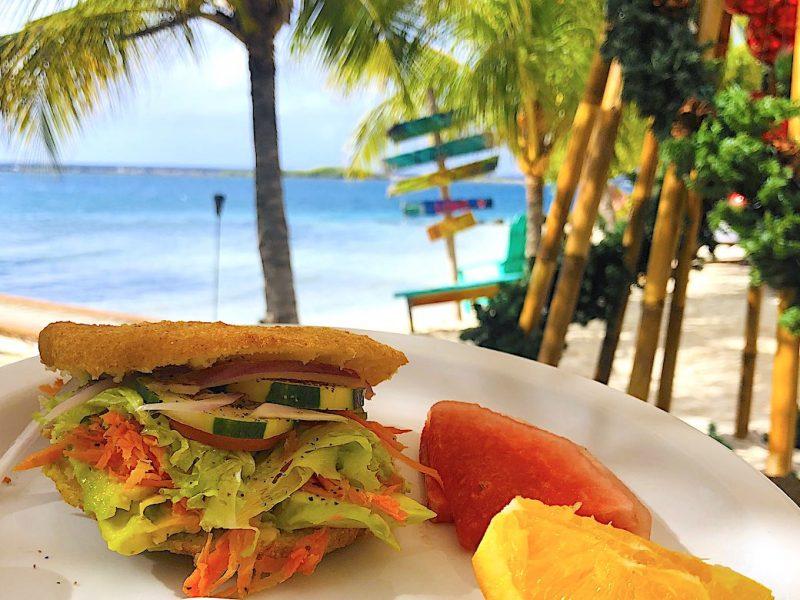 Enjoy arepas and more at Aruba Ocean Villas