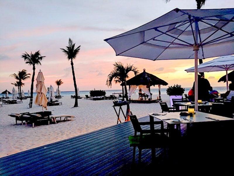 Sunset at Bucuti Resort Aruba