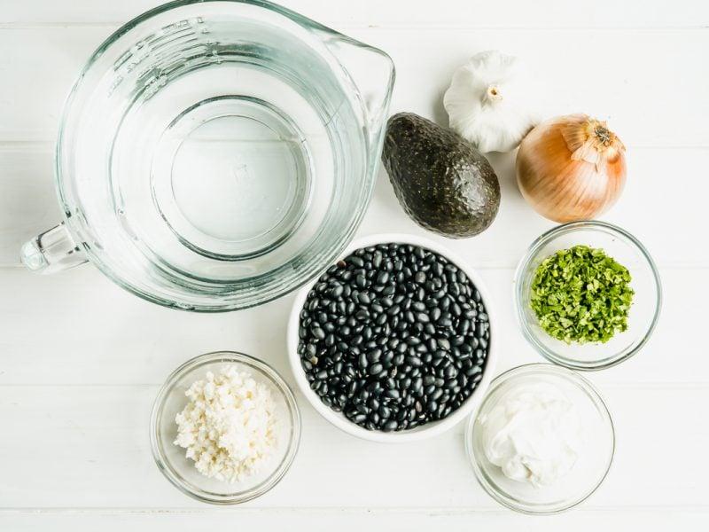 Ingredients for Guatemalan Black Bean Soup