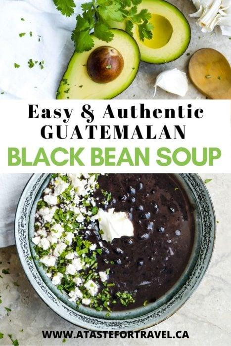 Guatemalan Black Bean Soup Pinterest