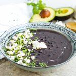 Guatemalan Black Bean Soup - Landscape