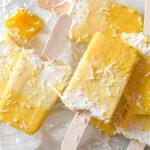 Pina Colada Mango Ice Cream Pops