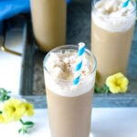 Frozen coffee drink without milk