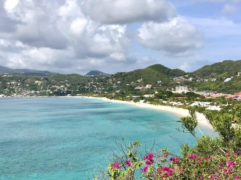 Panoramic view of Grand Anse Beach