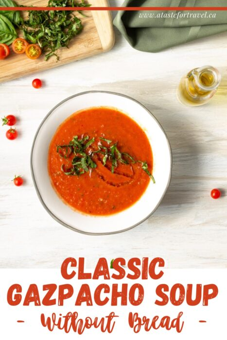 Traditional Gazpacho Recipe Without Bread
