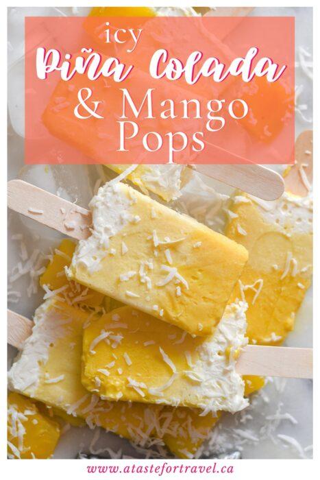 Mango Pina Colada Popsicles