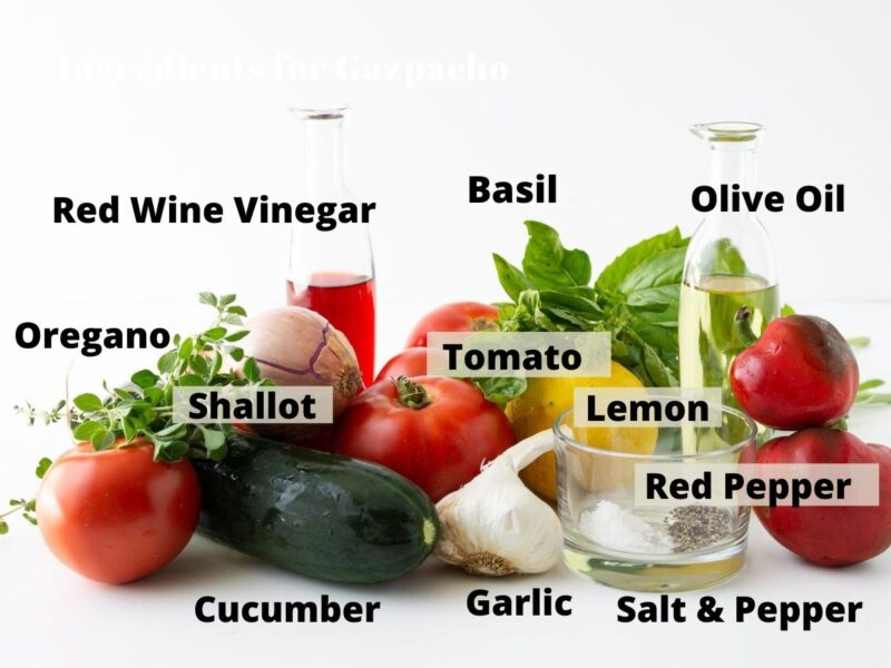 List of Ingredients for Healthy Gazpacho