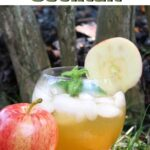 Apple Mojito with text overlay for Pinterest.