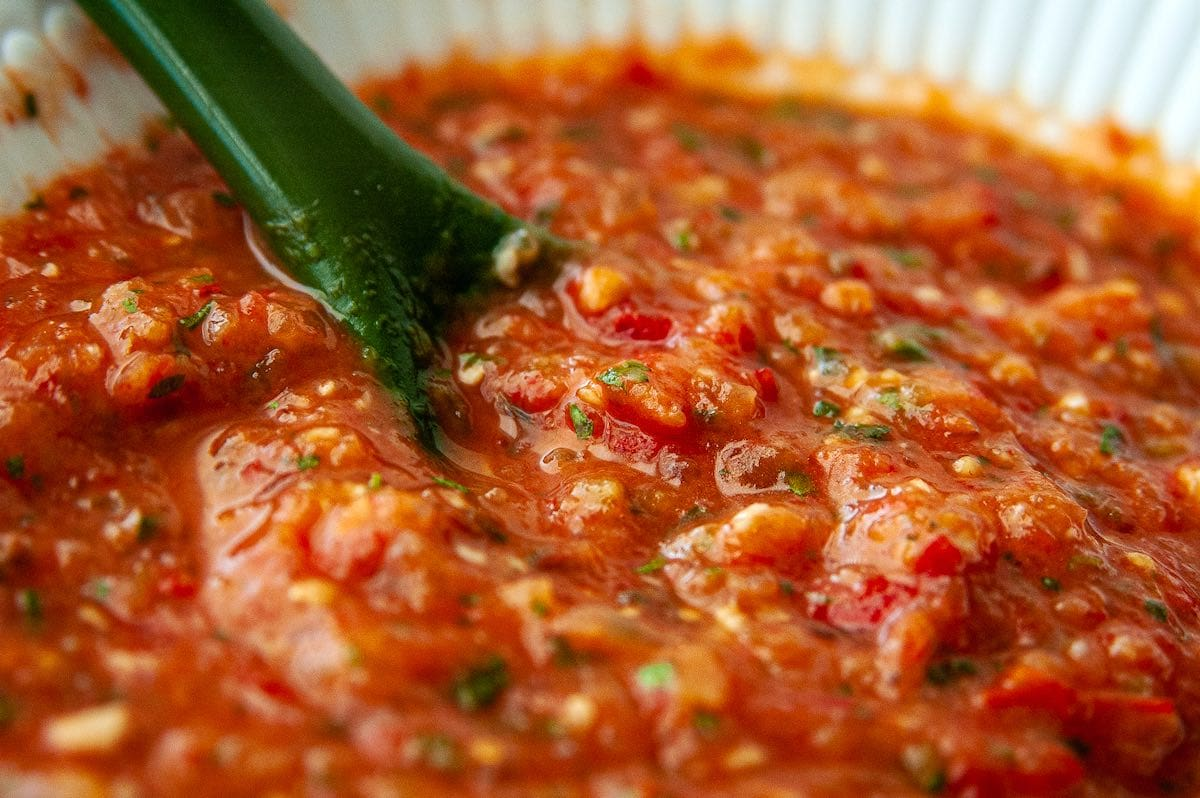 Freezer salsa from fresh tomatoes
