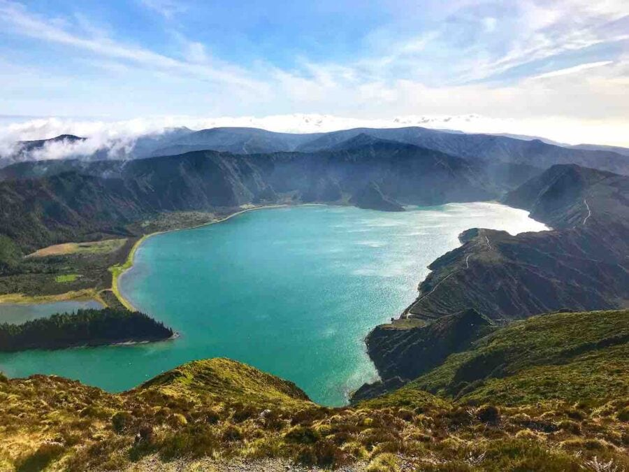 crater lake in sao miguel