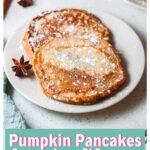Pumpkin Pancakes - Arepa di Pampuna on a plate