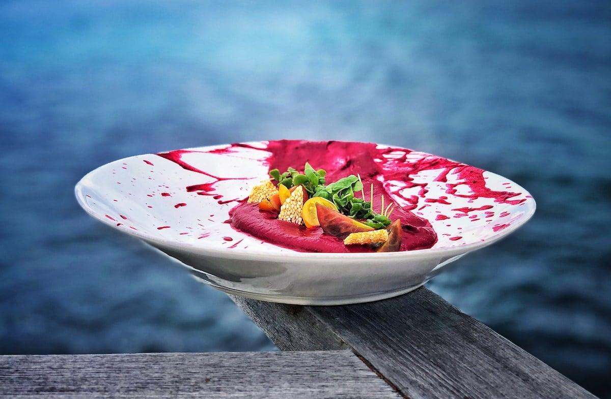 Creative cuisine on a white plate at WHITE Exclusive Suites & Villas. Credit Manuel Dias