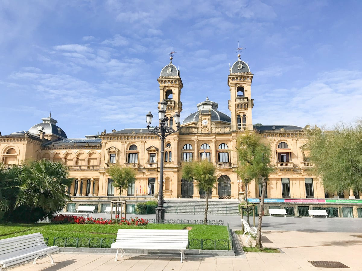 San Sebastian City Hall in San Sebastian, Spain.