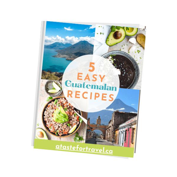Cover of Easy Guatemalan Recipes e-book cover.