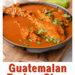 Guatemalan Kakik Turkey Stew with text overlay for Pinterest.