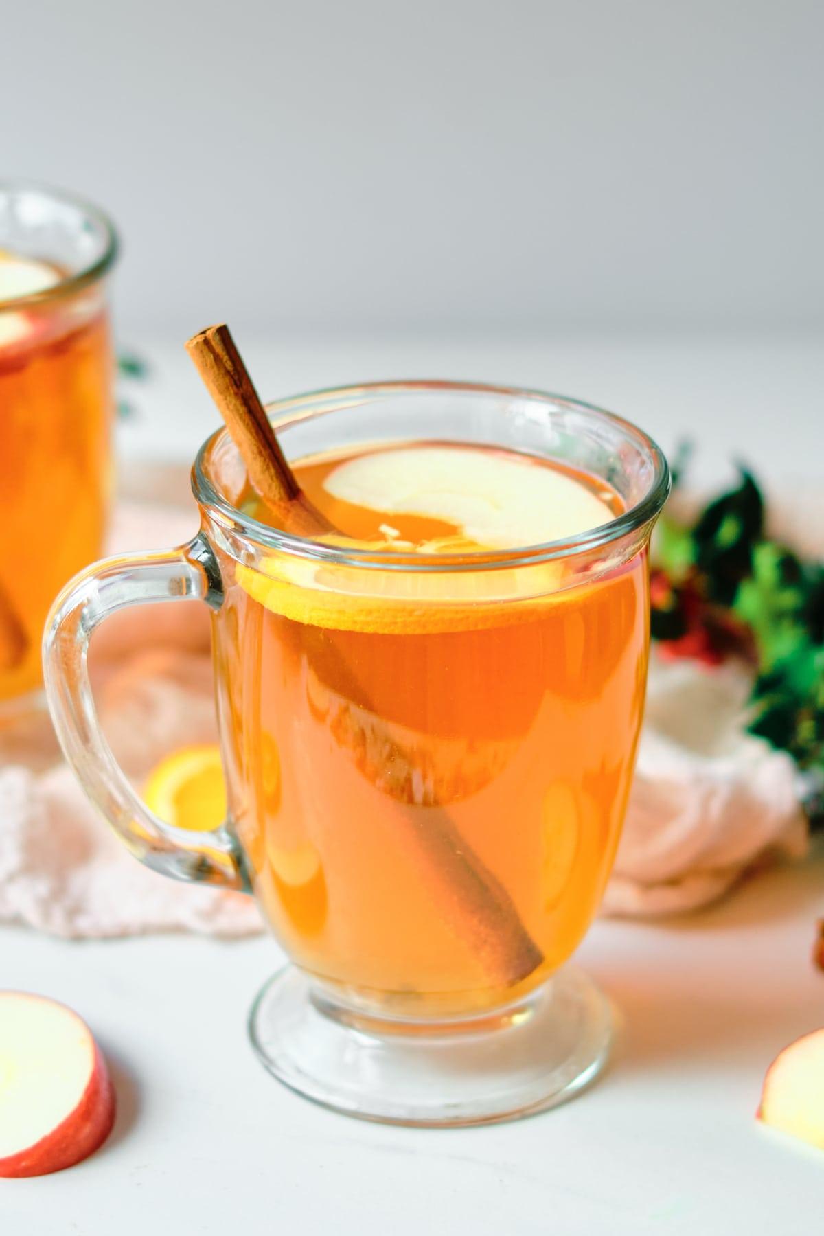 Close-up of Spiced Christmas Tea