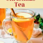 Christmas Afternoon Tea with text overlay for Pinterest.