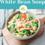 White bean soup for Pinterest.